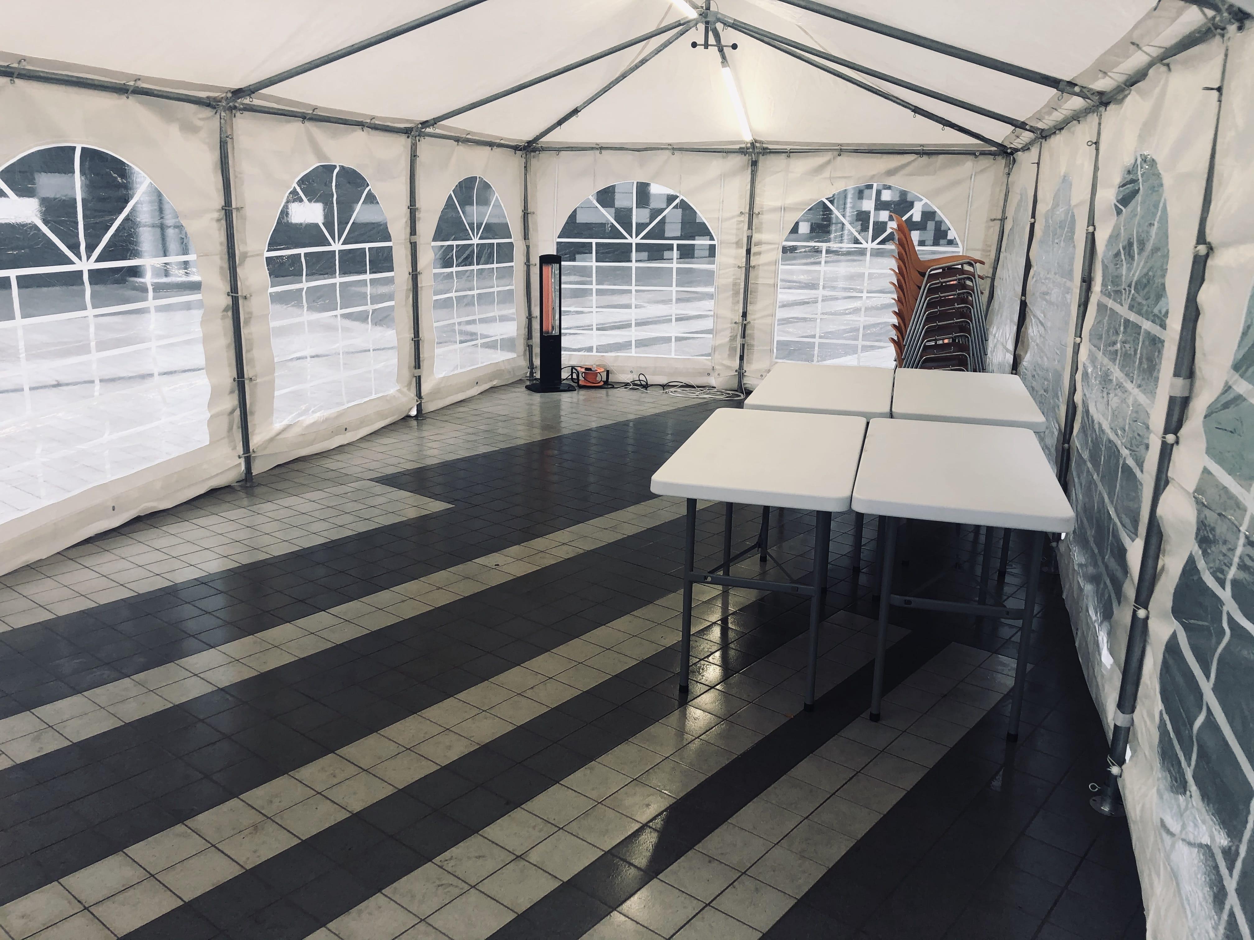 4m x 8m telts