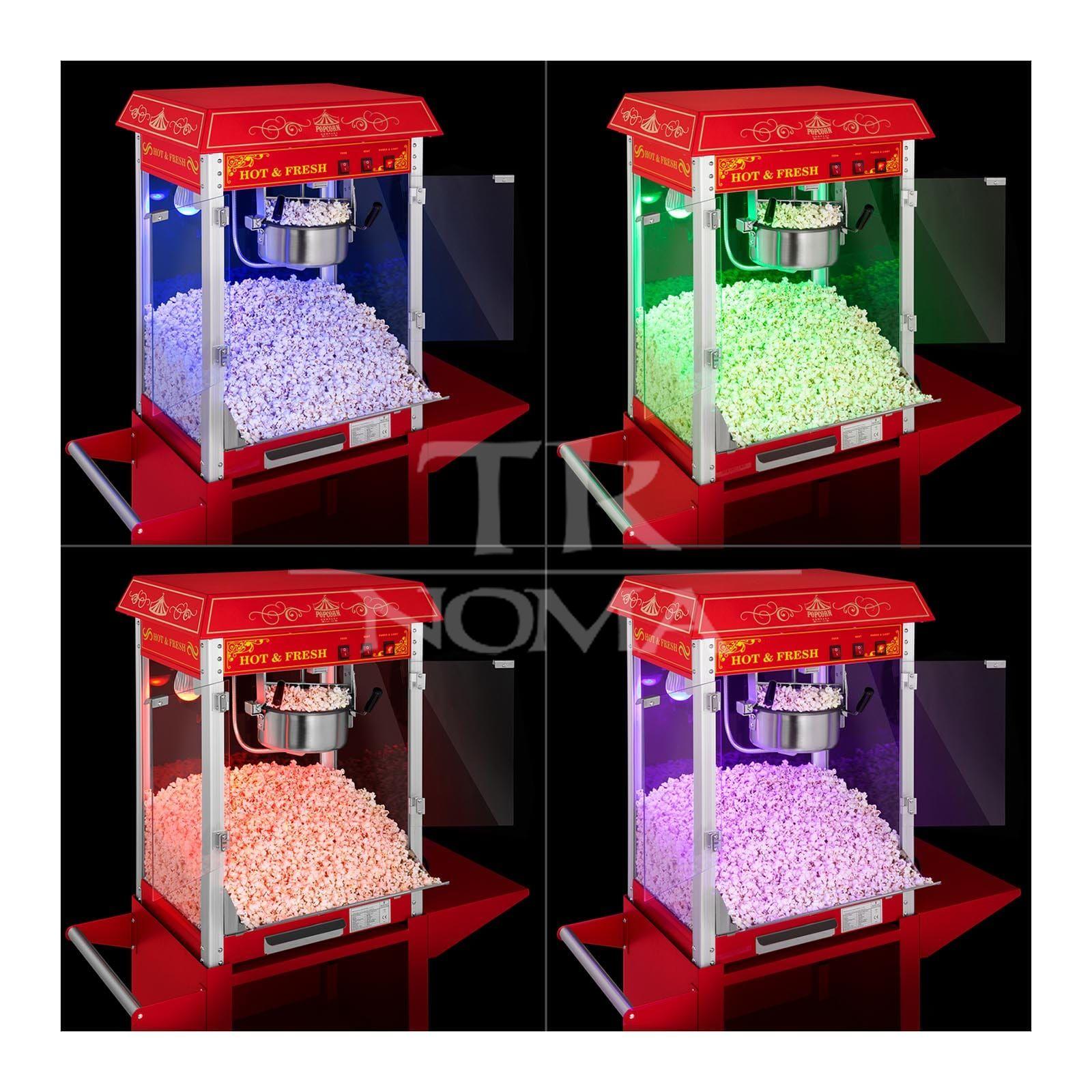 Popkorna aparāts ar maināmu krāsu pasākumiem un ballītēm