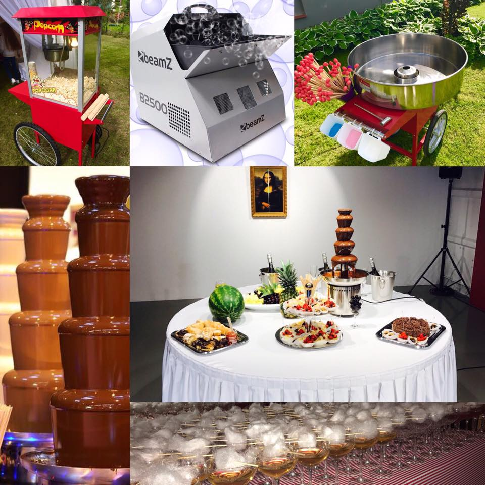 Saldumu ierīču un aparātu nomas, īre bērnu pasākumiem un ballītēm