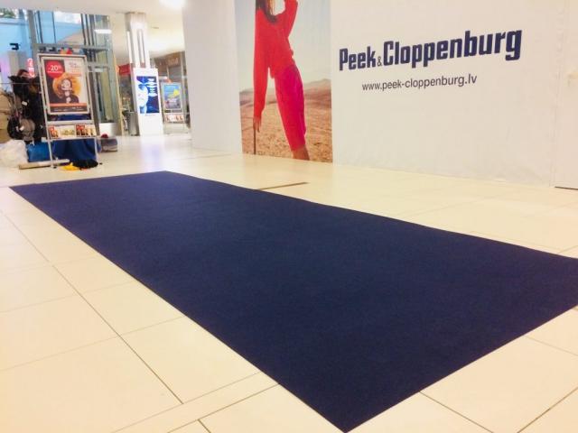 Zils paklājs noma