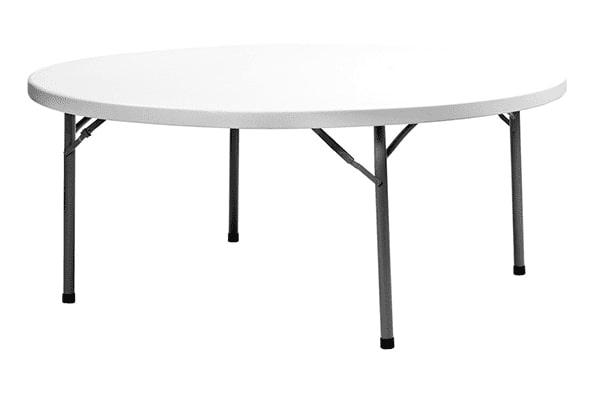 Apaļš saliekams galds diametrā 152 cm TkNoma