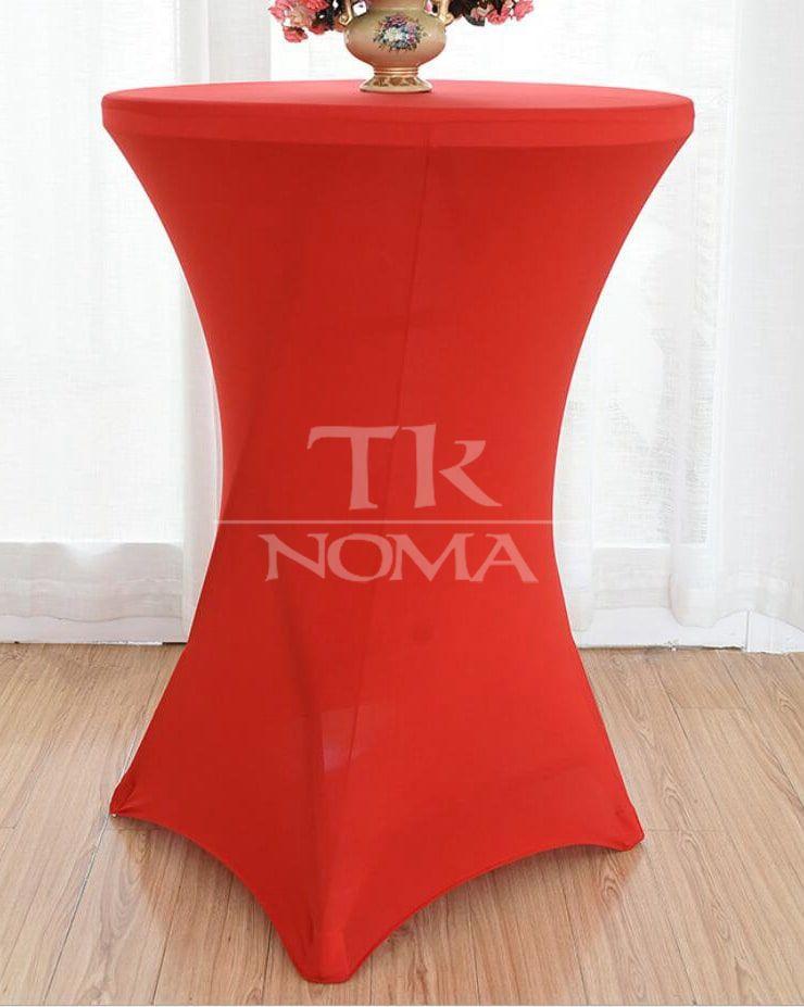 Sarkans galda pārklājs elastīgais